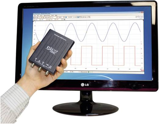 pico 2204A USB-Oszilloskop 10 MHz 2-Kanal 50 MSa/s 8 kpts 8 Bit Kalibriert nach ISO Digital-Speicher (DSO), Funktionsgen