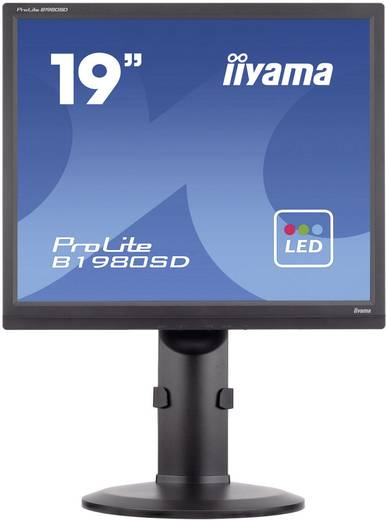 Iiyama B1980SD LED-Monitor 48.3 cm (19 Zoll) EEK n.rel. 1280 x 1024 Pixel SXGA 5 ms DVI, VGA TN LED