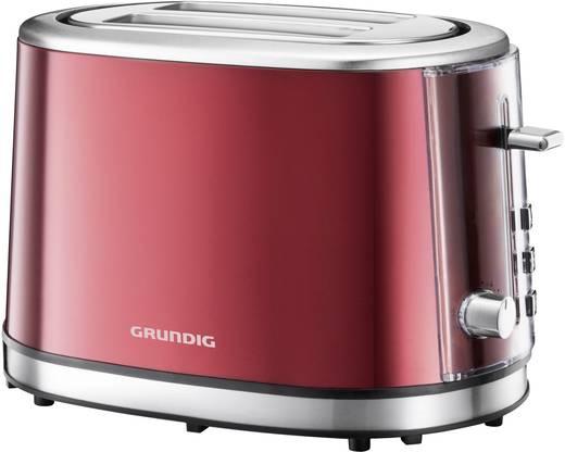 Toaster mit Brötchenaufsatz Grundig TA6330 Rot (metallic), Edelstahl