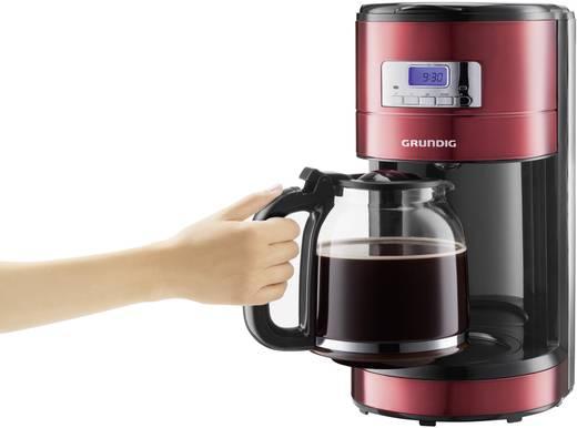 Kaffeemaschine Grundig HC KA MCET 1 Rot (metallic), Schwarz, Edelstahl Fassungsvermögen Tassen=12 Display, Timerfunktio