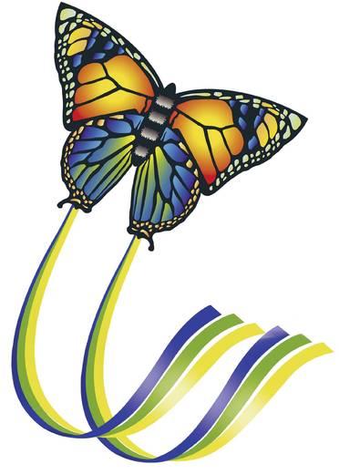 Einleiner Drache Günther Flugspiele Butterfly Spannweite 950 mm Windstärken-Eignung 4 - 6 bft