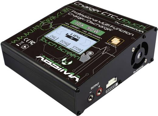 Modellbau-Multifunktionsladegerät 110 V, 220 V, 12 V, 18 V 10 A Absima CTC-1 Touch NiMH, NiCd, LiPo, LiIon, LiFePO, Blei