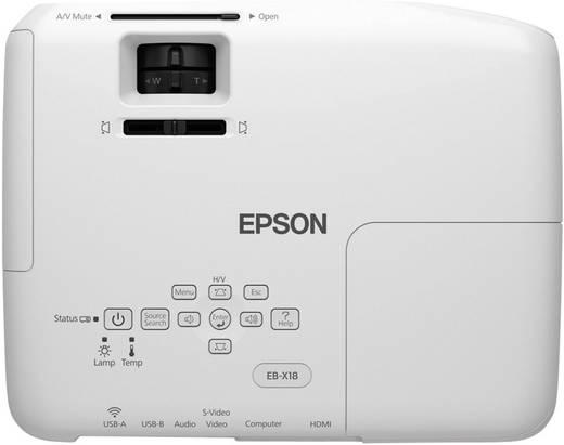 LCD Beamer Epson EB-X18 Helligkeit: 3000 lm 1024 x 768 XGA 10000 : 1 Weiß