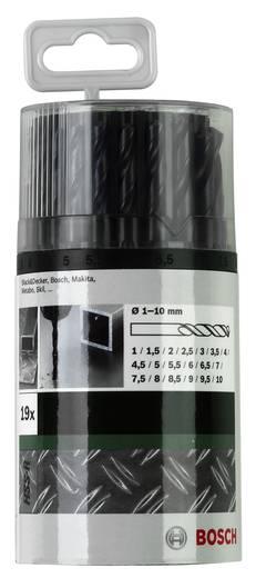 HSS Metall-Spiralbohrer-Set 19teilig Bosch Accessories 2609255033 rollgewalzt DIN 338 Zylinderschaft 1 Set