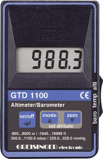 Druck-Messgerät Greisinger GTD 1100 Luftdruck 0.3 - 1.1 bar mit Höhenmesser Kalibriert nach ISO