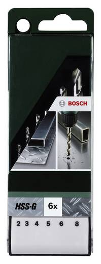 HSS Metall-Spiralbohrer-Set 6teilig Bosch Accessories 2609255060 geschliffen DIN 338 Zylinderschaft 1 Set