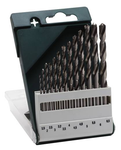 HSS Metall-Spiralbohrer-Set 13teilig Bosch Accessories 2609255061 geschliffen DIN 338 Zylinderschaft 1 Set