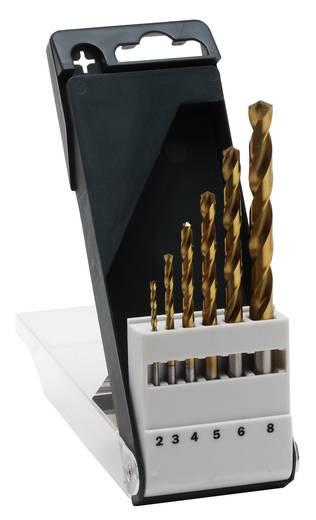 HSS Metall-Spiralbohrer-Set 6teilig Bosch Accessories 2609255113 TiN DIN 338 Zylinderschaft 1 Set