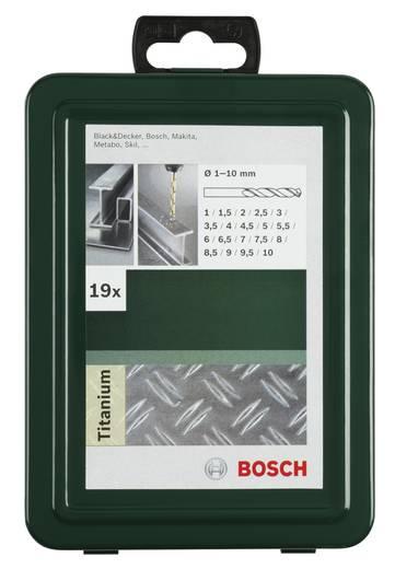 HSS Metall-Spiralbohrer-Set 19teilig Bosch Accessories 2609255114 TiN DIN 338 Zylinderschaft 1 Set