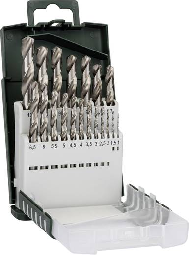 HSS Metall-Spiralbohrer-Set 19teilig Bosch Accessories 2609255132 geschliffen Zylinderschaft 1 Set
