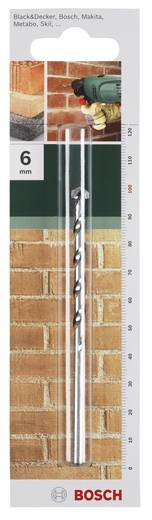 Hartmetall Stein-Spiralbohrer 6.5 mm Bosch Accessories 2609255429 Gesamtlänge 150 mm Zylinderschaft 1 St.