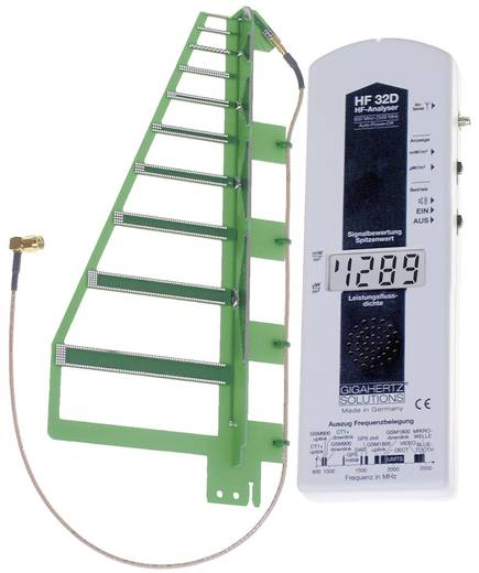 Hochfrequenz (HF)-Elektrosmogmessgerät Gigahertz Solutions HF 32D Kalibriert nach Werksstandard (ohne Zertifikat)