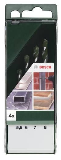 Hartmetall Mehrzweckbohrer-Set 4teilig Bosch Accessories DIY multi 2609255481 Zylinderschaft 1 Set