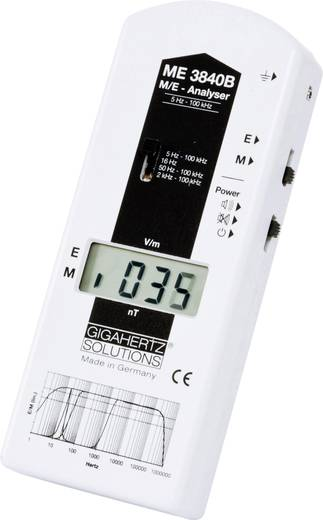 Gigahertz Solutions ME 3840B Niederfrequenz (NF)-Analysegerät, Elektrosmog-Messgerät, 5 Hz - 100 kHz, - 2dB (gemäß dem S