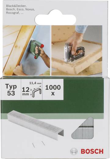 Klammer Typ 53 1000 St. Bosch Accessories 2609255824 Abmessungen (L x B) 18 mm x 11.4 mm