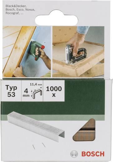 Klammer Typ 53 1000 St. Bosch Accessories 2609255857 Klammern-Typ 53 Abmessungen (L x B) 4 mm x 11.4 mm