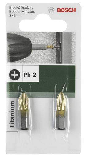 Kreuzschlitz-Bit PH 1 Bosch Accessories TiN C 6.3 2 St.