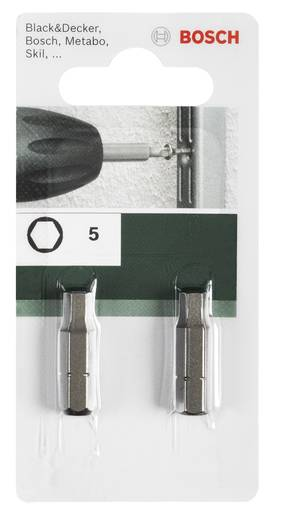 Sechskant-Bit 5 mm Bosch Accessories C 6.3 2 St.