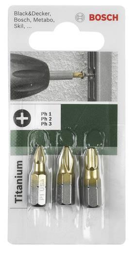 Kreuzschlitz-Bit PZ 1, PZ 2, PZ 3 Bosch Accessories TiN C 6.3 3 St.