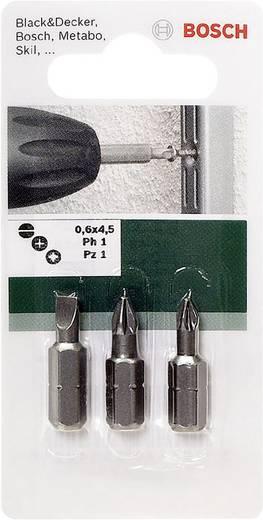 Bit-Set 3teilig Bosch Accessories 2609255973 Schlitz, Kreuzschlitz Phillips, Kreuzschlitz Pozidriv