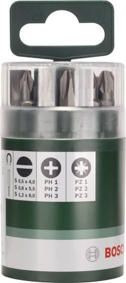Image of Bit-Set 10teilig Bosch Accessories 2609255975 Schlitz, Kreuzschlitz Phillips, Kreuzschlitz Pozidriv