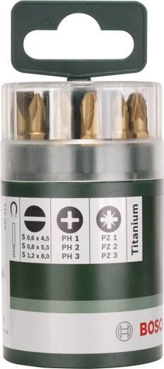 Bit-Set 10teilig Bosch Accessories 2609255978 Schlitz, Kreuzschlitz Phillips, Kreuzschlitz Pozidriv