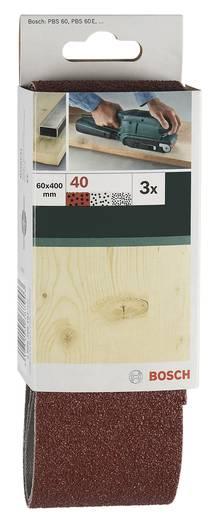 Schleifband-Set Körnung 60, 80, 100 (L x B) 410 mm x 65 mm Bosch Accessories 2609256203 1 Set