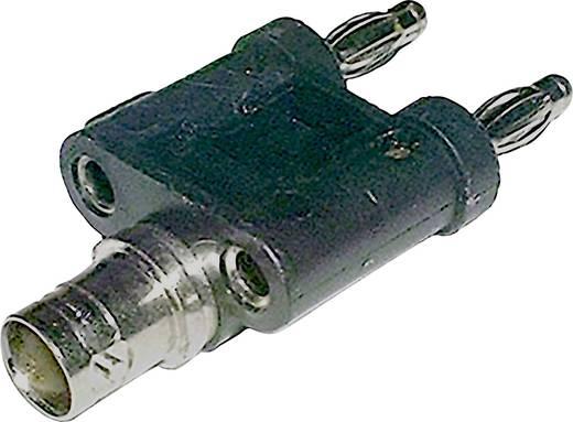 Messadapter [ BNC-Buchse - Lamellenstecker 4 mm] BKL Electronic Schwarz