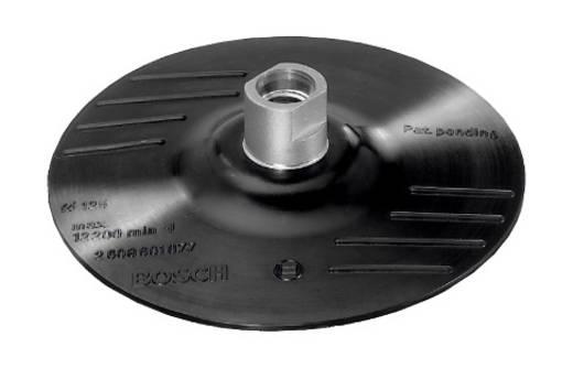 Gummischleifteller für Winkelschleifer, Klettsystem, 125 mm Bosch Accessories 2609256272