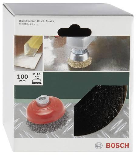 Bosch Accessories 2609256502 Topfbürste Ø 100 mm Stahldraht M 14 1 St.