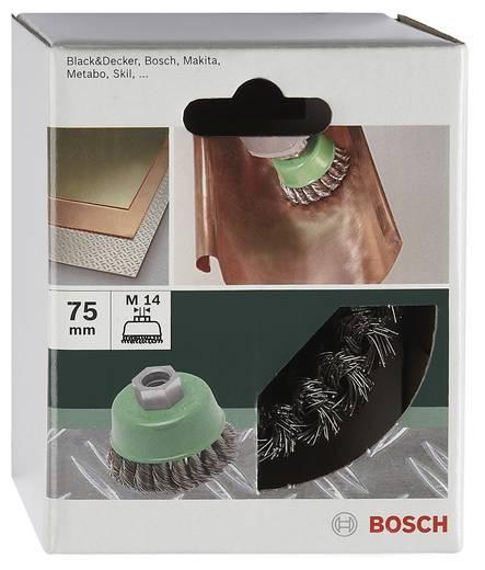Bosch Accessories 2609256504 Topfbürste Ø 75 mm Edelstahldraht M 14 1 St.