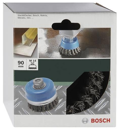 Bosch Accessories Topfbürste für Winkel- und Geradschleifer – Gewellter Draht, vermessingt, 100 mm Ø 100 mm 2609256508