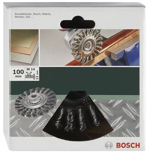 Bosch Accessories 2609256509 Scheibenbürste Ø 100 mm Edelstahldraht M 14 1 St.