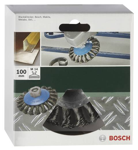 Bosch Accessories 2609256511 Kegelbürste Ø 100 mm Stahldraht M 14 1 St.