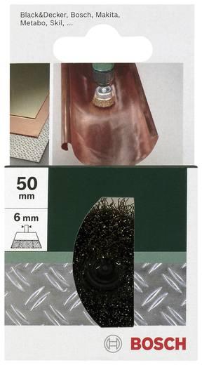 Bosch Accessories 2609256516 Topfbürste Ø 50 mm Stahldraht vermessingt Schaft-Ø 6 mm 1 St.