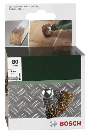 Holzstrukturbürste für Bohrmaschinen – Gewellter Draht, vermessingt, 80 mm Bosch Accessories 2609256541 1
