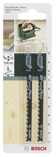 Stichsägeblatt HCS, T 244 D Bosch Accessories 2609256719 2 St.