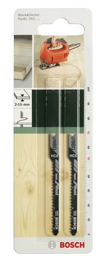 Stichsägeblatt HCS, U 19 BO Bosch Accessories 2609256757 2 St.