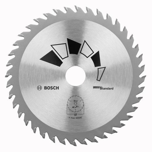 Kreissägeblatt STANDARD Bosch Accessories 2609256821 Durchmesser: 190 mm Zähneanzahl: 40 Sägeblatt