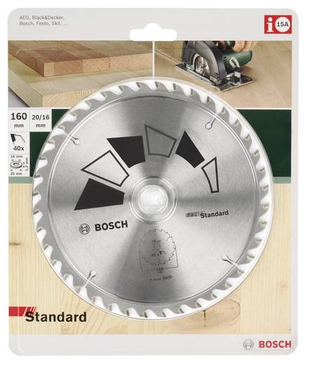 Kreissägeblatt STANDARD Bosch Accessories 2609256814 Durchmesser: 180 mm Zähneanzahl: 24 Sägeblatt