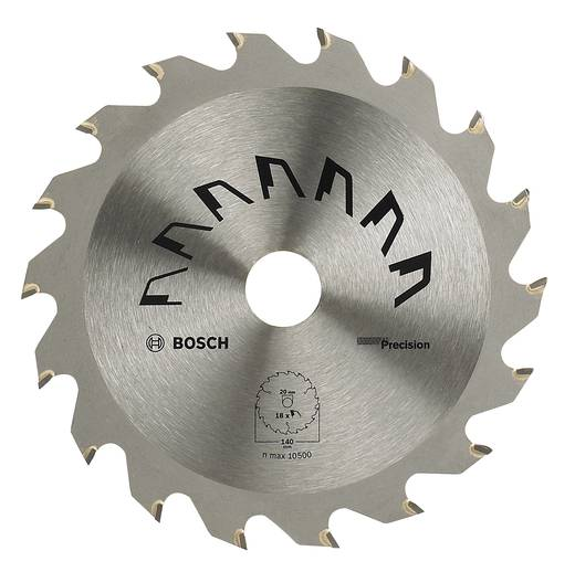 Hartmetall Kreissägeblatt 160 x 20 mm Zähneanzahl: 12 Bosch Accessories Precision 2609256854 1 St.