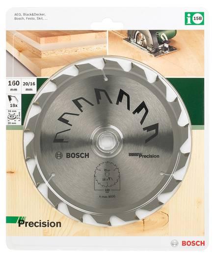 Hartmetall Kreissägeblatt 160 x 20 mm Zähneanzahl: 18 Bosch Accessories Precision 2609256855 1 St.