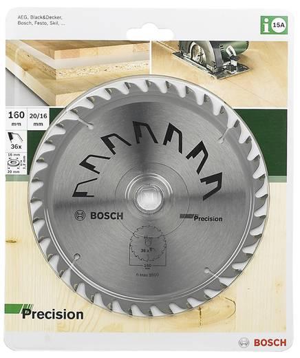Hartmetall Kreissägeblatt 160 x 20 mm Zähneanzahl: 36 Bosch Accessories Precision 2609256856 1 St.