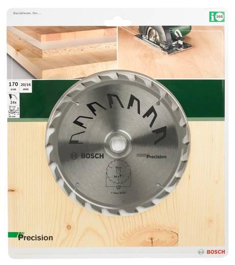 Kreissägeblatt PRECISION Bosch Accessories 2609256857 Durchmesser: 170 mm Zähneanzahl: 24 Sägeblatt