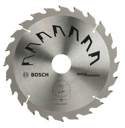 Kreissägeblatt PRECISION Bosch Accessories 2609256860 Durchmesser: 180 mm Zähneanzahl: 24 Sägeblatt