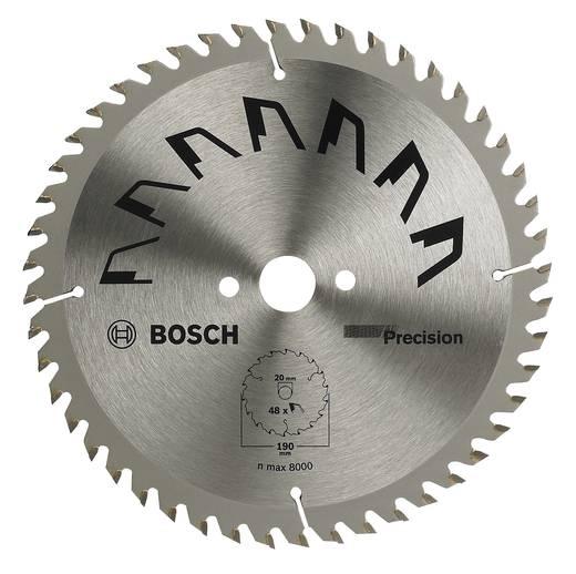 Hartmetall Kreissägeblatt 190 x 20 mm Zähneanzahl: 48 Bosch Accessories Precision 2609256867 1 St.