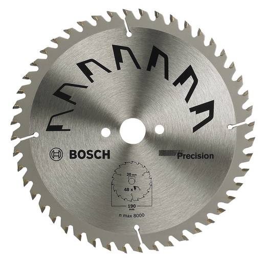 Kreissägeblatt PRECISION Bosch Accessories 2609256870 Durchmesser: 190 mm Zähneanzahl: 48 Sägeblatt