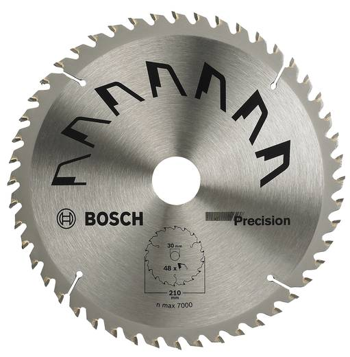 Kreissägeblatt PRECISION Bosch Accessories 2609256873 Durchmesser: 210 mm Zähneanzahl: 48 Sägeblatt