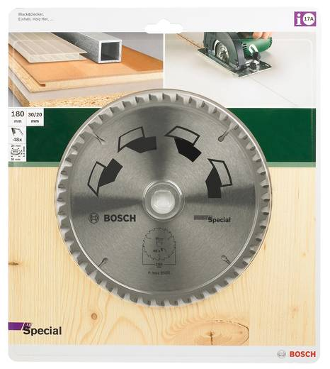 Hartmetall Kreissägeblatt 140 x 20 mm Zähneanzahl: 40 Bosch Accessories Special 2609256885 1 St.
