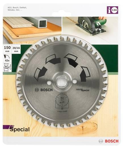 Kreissägeblatt SPECIAL Bosch Accessories 2609256886 Durchmesser: 150 mm Zähneanzahl: 42 Dicke:2 mm Sägeblatt